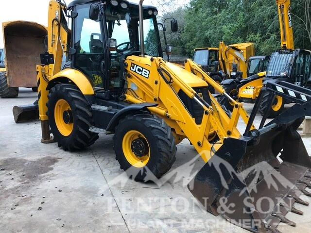 JCB 3CX waiting to be collected