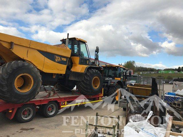 JCB Dump Truck loaded for Dominica