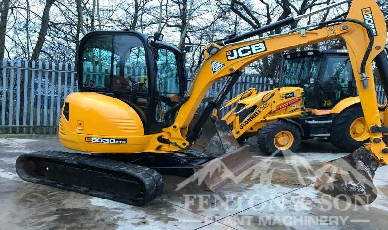 JCB 8030 ready for Scotland